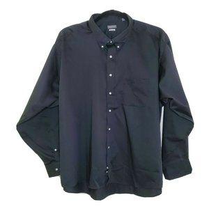 Van Heusen Regular Fit Twill Dress Shirt Black 4XL